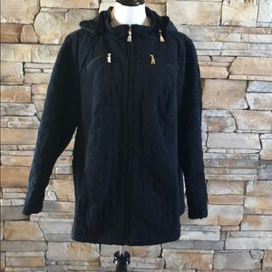 Catherine's quilted, hooded coat